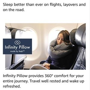 HOLIDAY SALE! 🎄 Huzi Infinity Travel Pillow 😴🛫